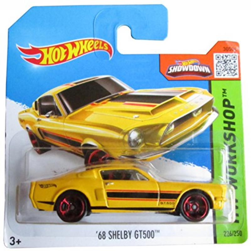 Hot Wheels HW Workshop 226/250 Yellow '68 Shelby Gt500 on Short Card