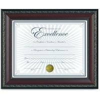 DAX World Class Document Frame w/Certificate, Walnut, 8 1/2 x 11