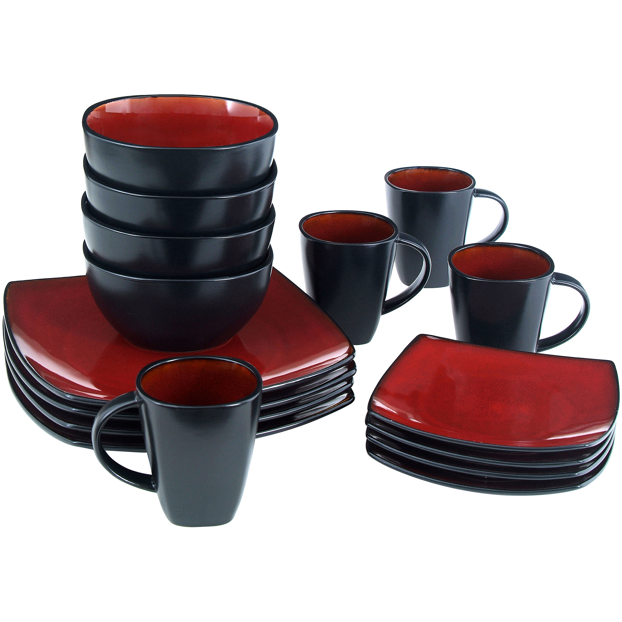Better Homes & Gardens 16-Piece Dinnerware Set, Tuscan Red