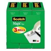 Scotch Magic Tape, 1/2 in. x 1,296 in., Clear, 3 Boxes/Pack