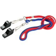 MacGregor PVC Whistle with Lanyards, 2pk