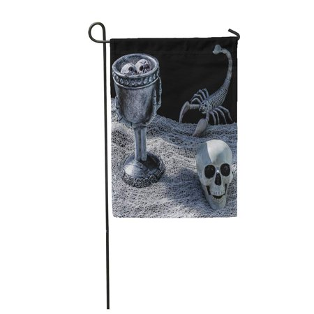 LADDKE Spooky Scorpion and Skull Table Two Curious Floating in Witch Potion Garden Flag Decorative Flag House Banner 12x18 inch](Floating Witch)
