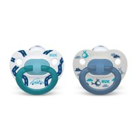 NUK Orthodontic Pacifiers, 18-36 Months, Assorted Colors, 2 Pack