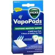 Vicks VapoPads Refill Pads 6 Each (Pack of 3)