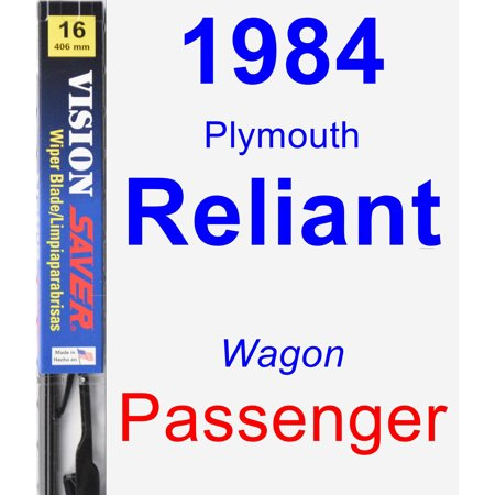 1984 Plymouth Reliant Passenger Wiper Blade - Vision Saver