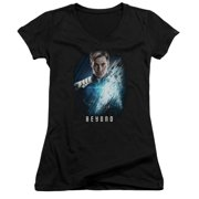 Star Trek Beyond Kirk Poster Juniors V-Neck Shirt