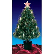 Northlight 4 ft. Pre Lit Fiber Optic Christmas Tree with Candles
