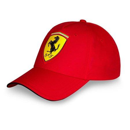 Ferrari Scudetto Carbon Cap in Red - Elite Carbon Ferrari