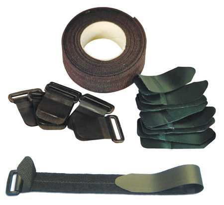 VELCRO 100RS Velcro Strap Kit,1in,Black