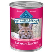 Blue Buffalo Wilderness Salmon High Protein Grain Free Wet Cat Food, 12.5 oz. Cans, 24 Pack