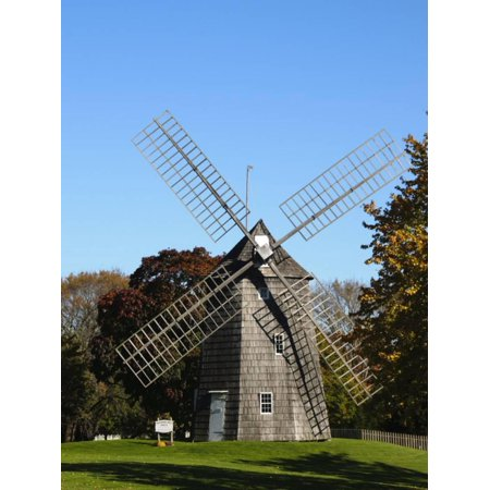 Old Hook Windmill, East Hampton, the Hamptons, Long Island, New York State, USA Print Wall Art By Robert
