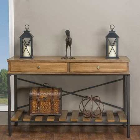 Baxton Studio Newcastle Wood and Metal Console Table ()