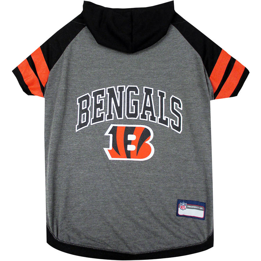 Pets First NFL Cincinnati Bengals Pet Hoodie Tee Shirt