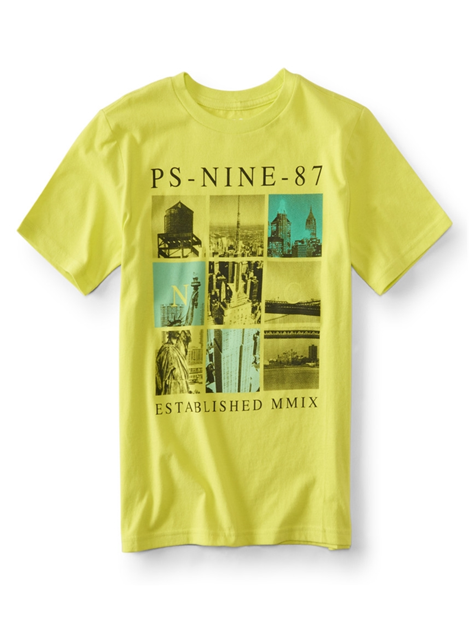 Aeropostale Boys Ny Blocks Graphic T-Shirt
