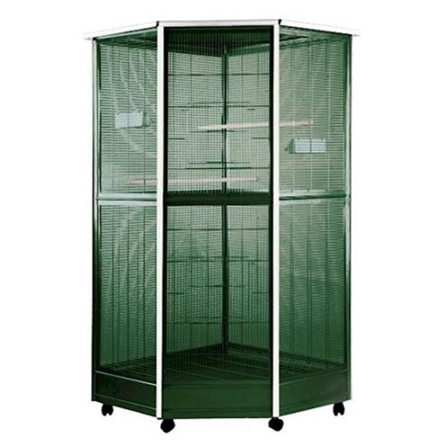 A&E Cage A Cages AE-100G-3 Corner Aviary - Small
