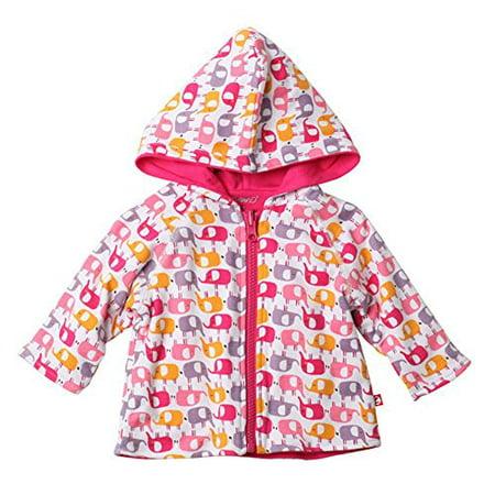 Zutano Reversible Hoodie Jacket, Ellas Elephants, 12 Months