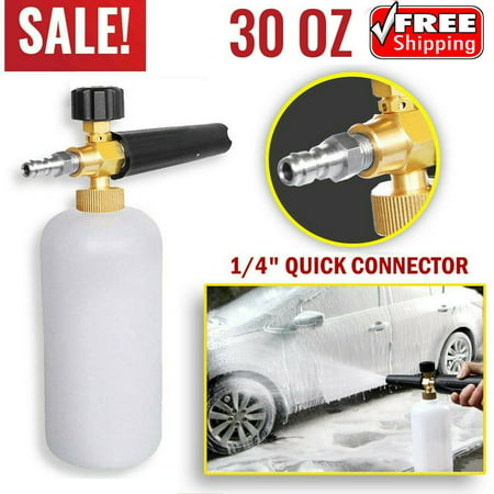 Snow Foam Lance Cannon Soap Bottle Sprayer For Pressure Washer Gun Jet Car (Best Foam Car Wash Gun)