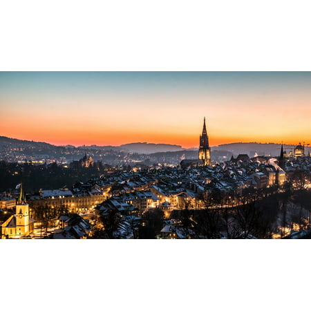 Canvas Print Bern Rose Garden Switzerland Downtown Building Stretched Canvas 10 x 14](Downtown At The Gardens)