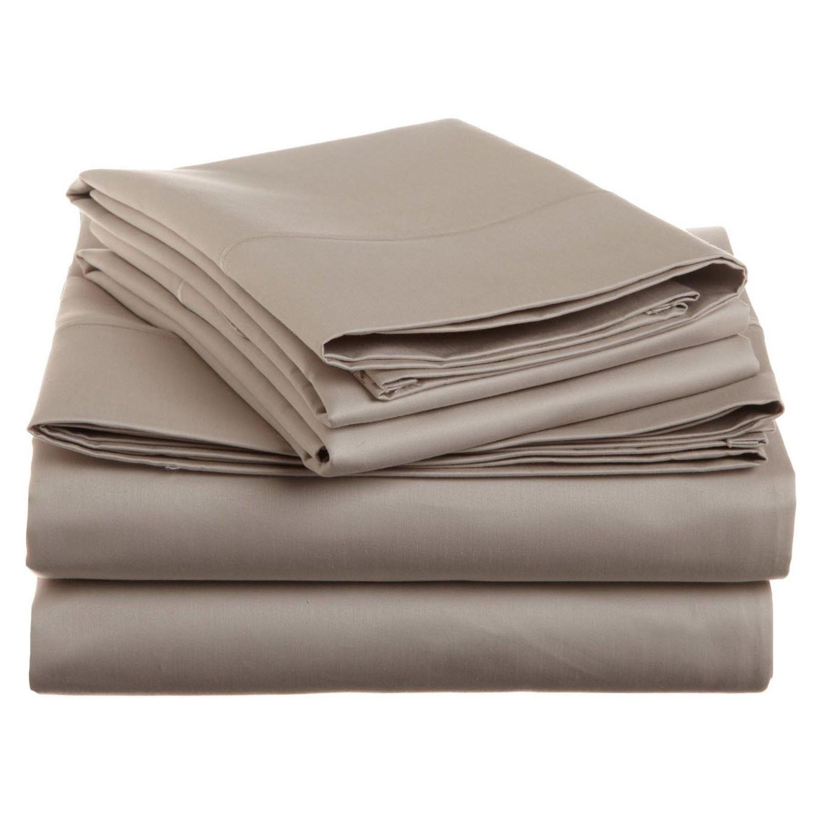Simple Luxury Cotton 1500 Thread Count Solid Sheet Set