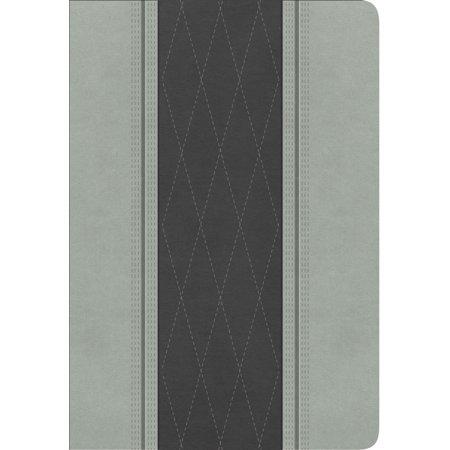 RVR 1960 Biblia Letra Grande Tamaño Manual, gris claro/gris carbón símil - Mr Gru