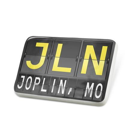 Party City Joplin Mo (Porcelein Pin JLN Airport Code for Joplin, MO Lapel Badge –)