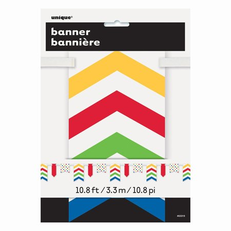 Bold Dot (12ft Bold Polka Dot & Chevron Paper Flag Banner By Unique Ship from)