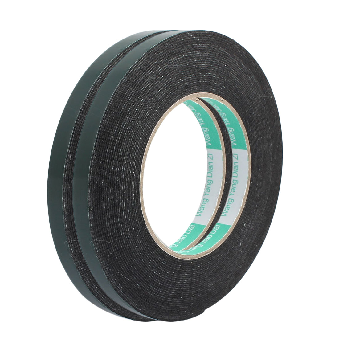 2pcs 10M x 10mm x 1mm Double-side Self Adhesive Shockproof Sponge Tape Green