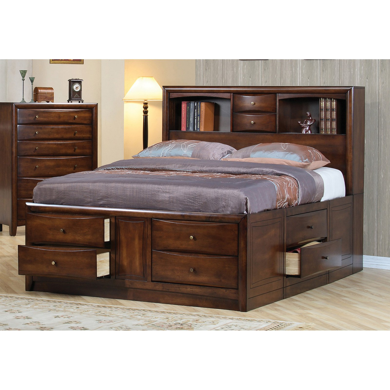 Coaster Furniture Louis Hillary Bookcase Storage Bed