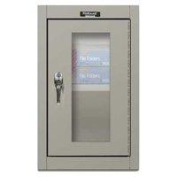 HALLOWELL 405-1626SV-HG Wall Mount Storage Cabinet,26x16x12,Gray