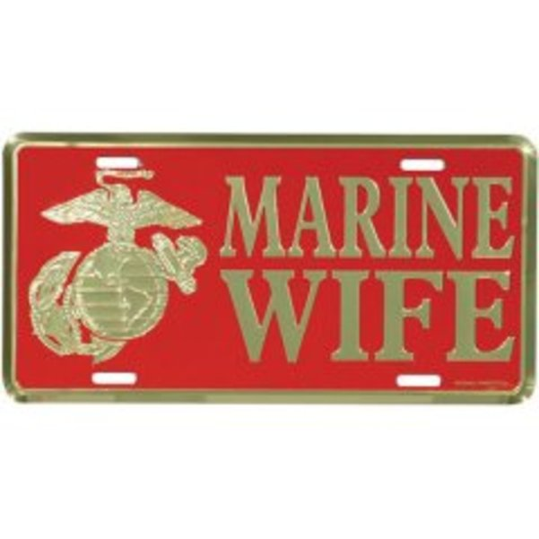 U.S. Marine Wife License Plate
