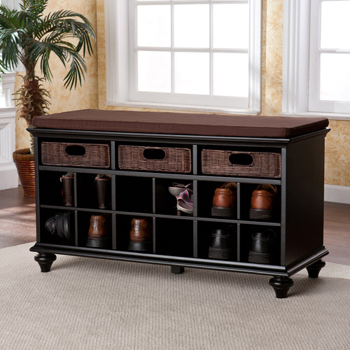 Carrabelle Entryway Shoe Storage Bench, Multiple Finishes