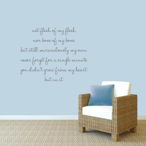Sweetums Adoption Creed' 40 x 32-inch Wall Decals