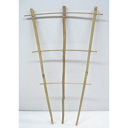 Wooden Trellis - Natural Color Bamboo Trellis 18 inches Tall (Quantity1)