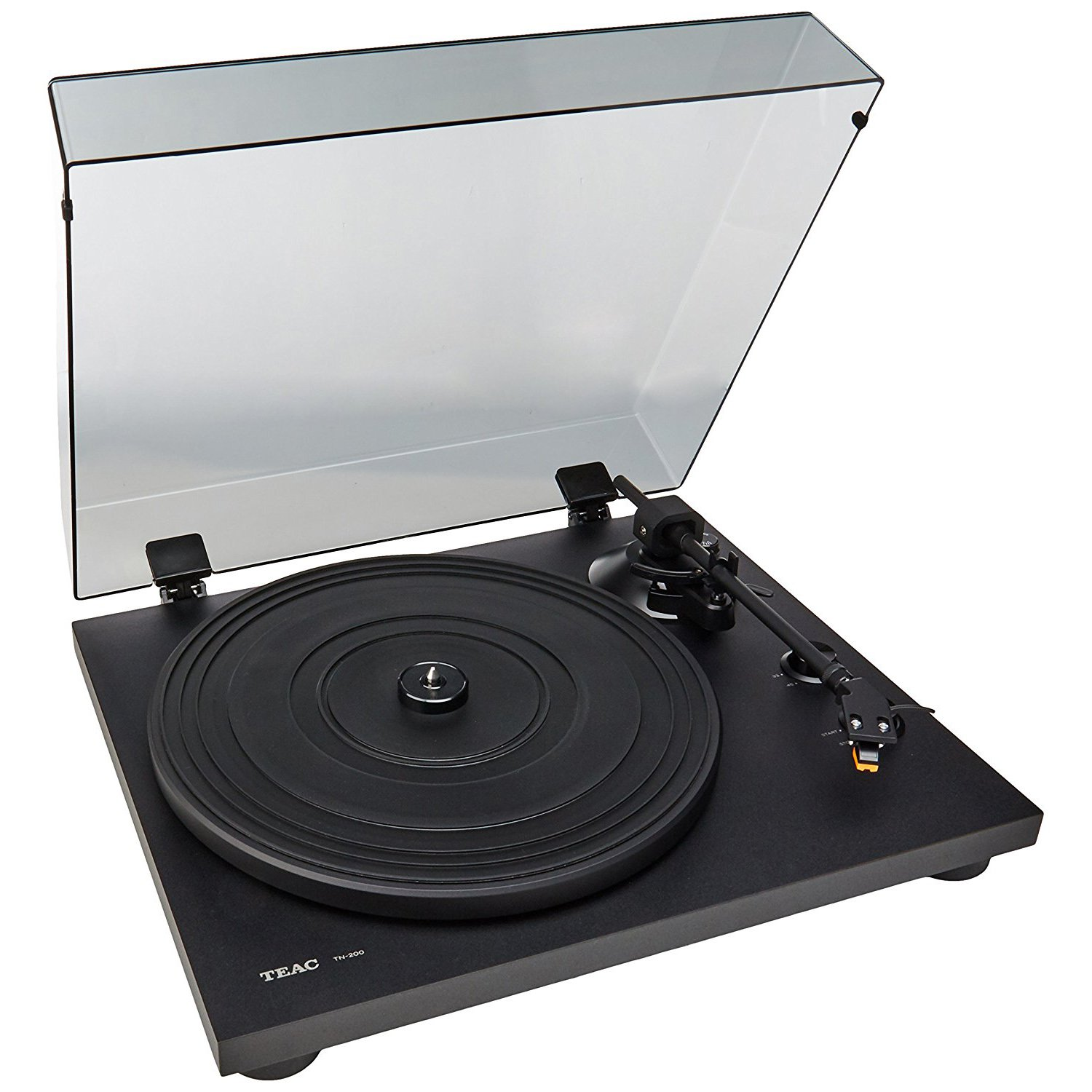 Teac TN-200-B 2-Speed Analog Turntable, Black by TEAC