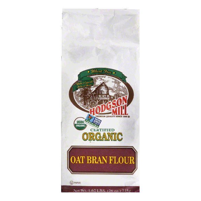 Hodgson Mill Flour Oat Bran Organic, 26 OZ (Pack of 6)