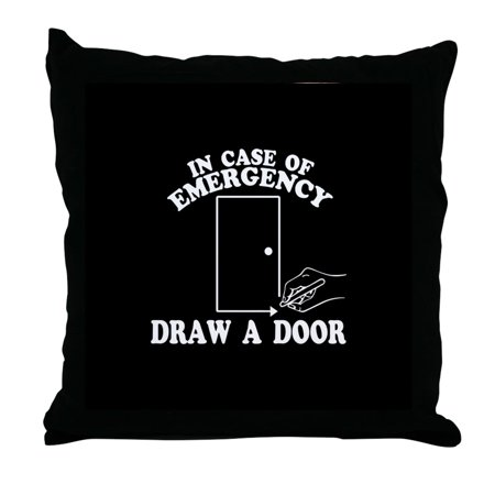 CafePress - Draw A Door Beetlejuice - Decor Throw Pillow (18