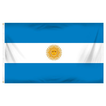 3ft x 5ft Argentina Flag - Printed Polyester