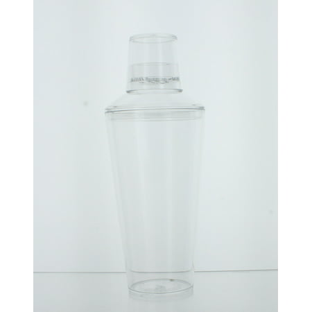 25 oz. Plastic Cocktail Shaker W/Jigger Cap Clear Bartender Party Drink -