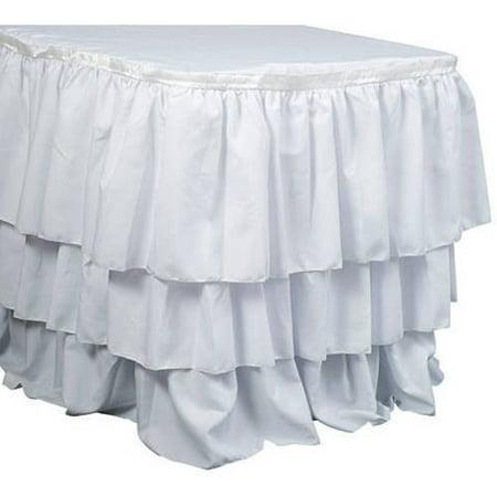 Ruffled Table Skirt (Polyester 3 Tier Ruffled Table Skirt,)