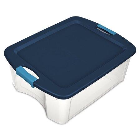 Single Sterilite 14449606 12 Gallon Latch and Carry Storage Tote Box