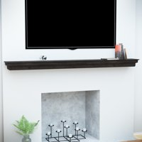 Avery Fireplace Mantel Shelf, Traditional, Smoked Ash