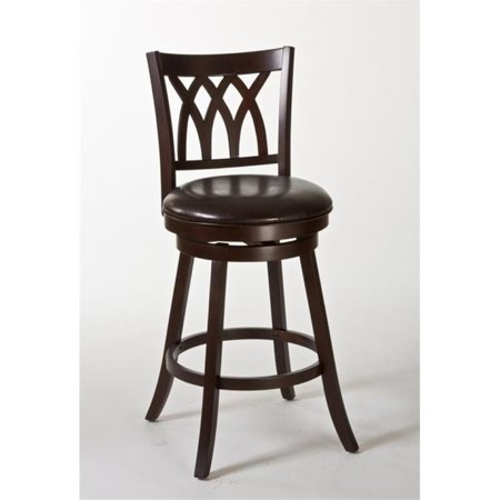 """Bowery Hill 25"""" Swivel Counter Stool in Cherry and Brown - image 2 de 2"""