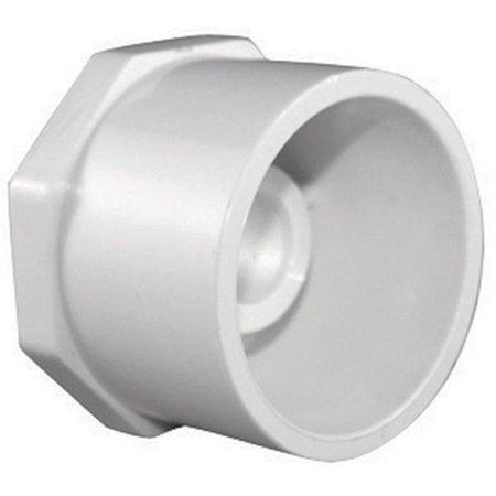Charlotte Pipe Reducing Bushing Sch 40 Pvc Spg X Fpt 2 X 1 1 4 White