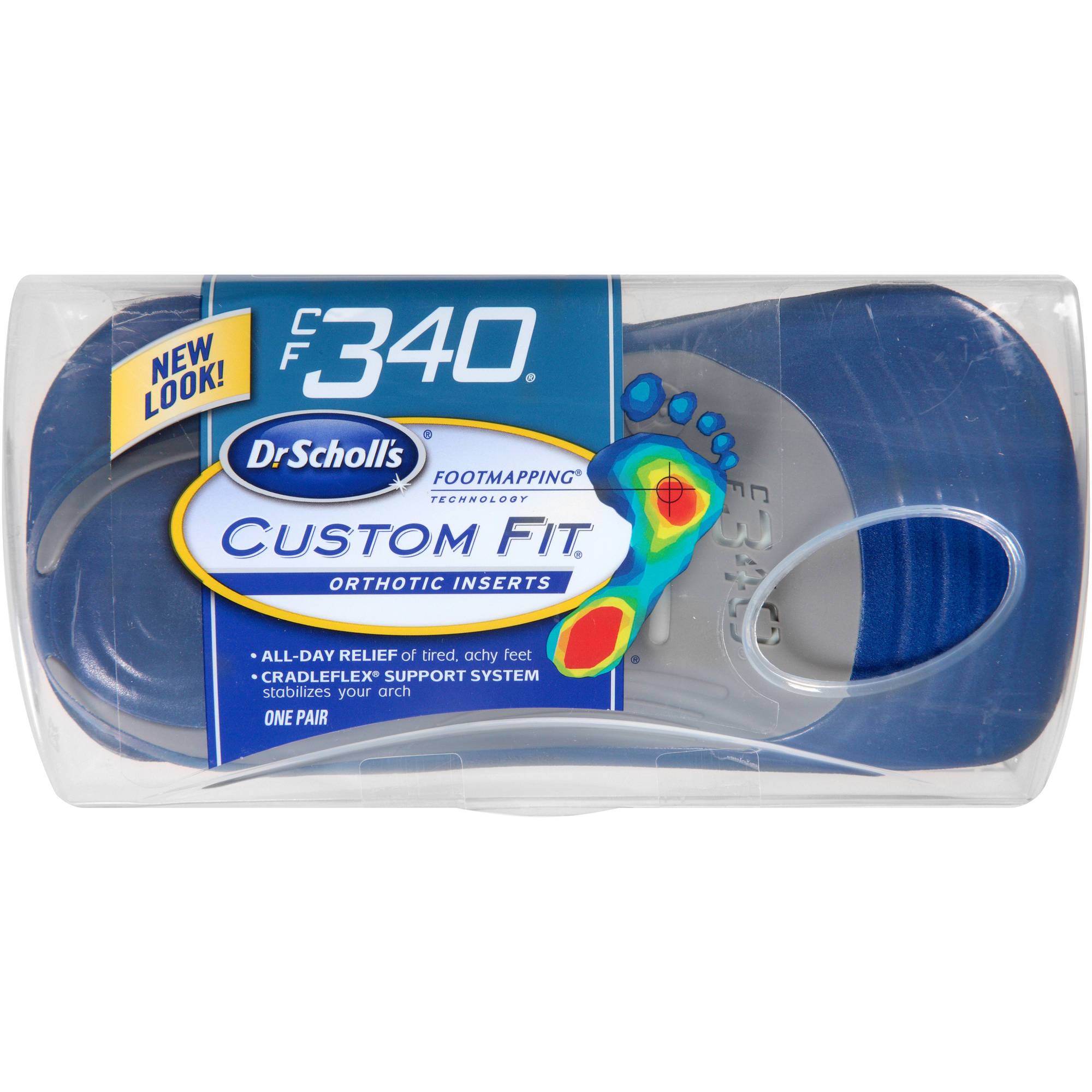 Dr. Scholl's Custom Fit CF340 Orthotic Inserts, 1 pr