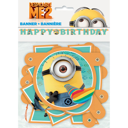 6' Despicable Me Birthday Banner