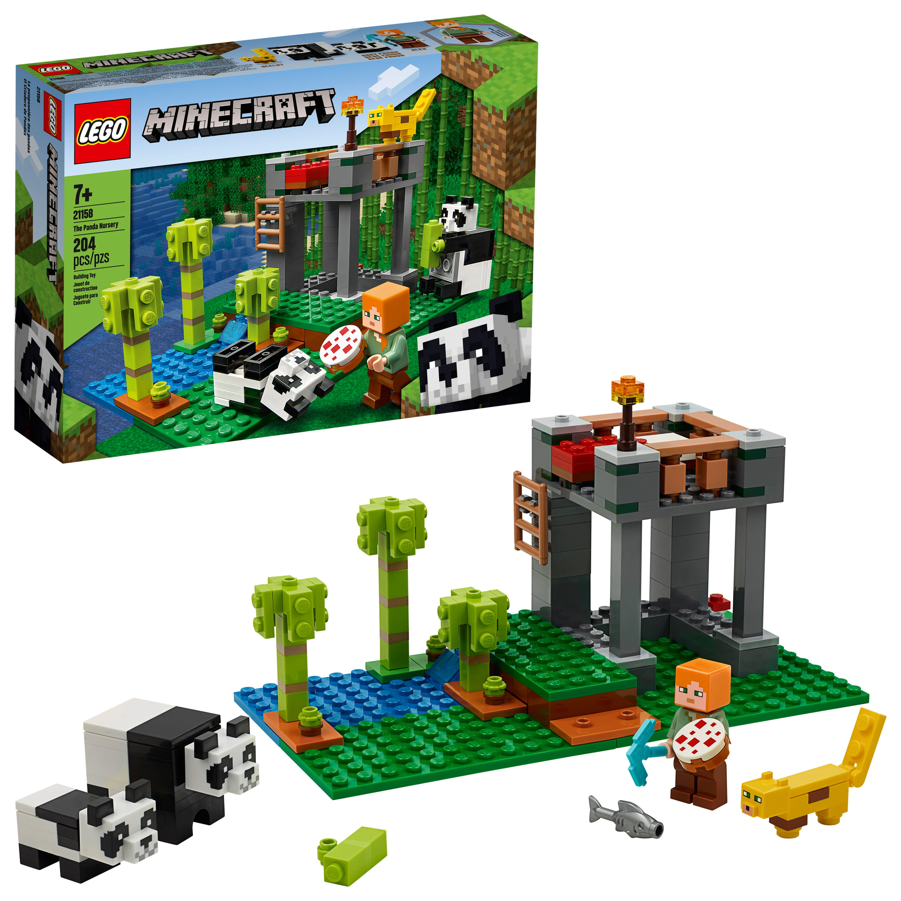 LEGO Minecraft The Panda Nursery 21158 Construction Toy for Kids, Great Creative Gift for Fans of Minecraft (204 Pieces)