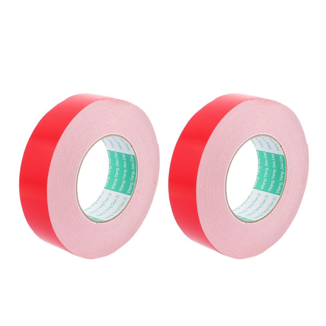 Unique Bargains 2PCS 40MM Width 10M Long 1MM Thick White Dual Sided Waterproof Sponge Tape