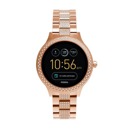 Fossil Gen 3 Venture Women's Smartwatch - Rose Gold-Tone and Glitz - Powered with Wear OS by