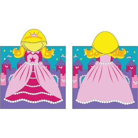 Princess Hooded Poncho Towel - Swim Poncho Towel