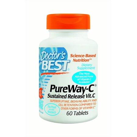 Doctor's Best PureWay-C Sustained Release Vitamin C Capsules, 60 Ct